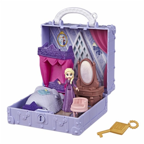Hasbro Frozen 2 Pop Adventures Elsa's Bedroom Pop-Up Playset Perspective: back