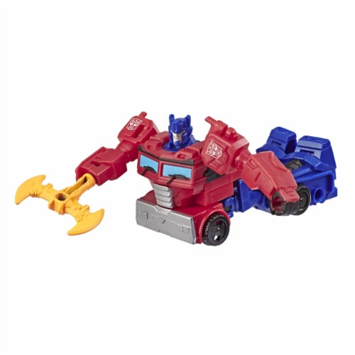Transformers Cyberverse Scout Class Optimus Prime Action Figure Perspective: back