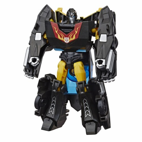 Transformers Bumblebee Cyberverse Adventures Stealth Force Fusion Flame Hot Rod Action Figure Toy Perspective: back