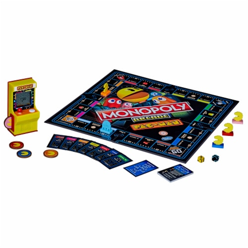 Hasbro Gaming Monopoly Arcade Pac-Man Board Game Perspective: back