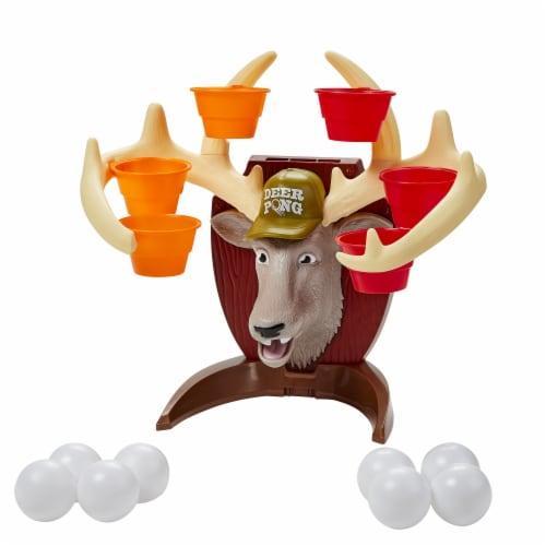 Hasbro Gaming Deer Pong Talking Deer Family Game Perspective: back