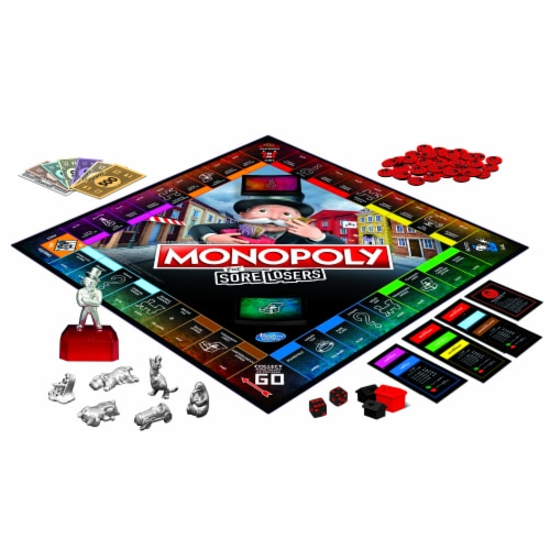 Hasbro Gaming Monopoly For Sore Losers Board Game Perspective: back