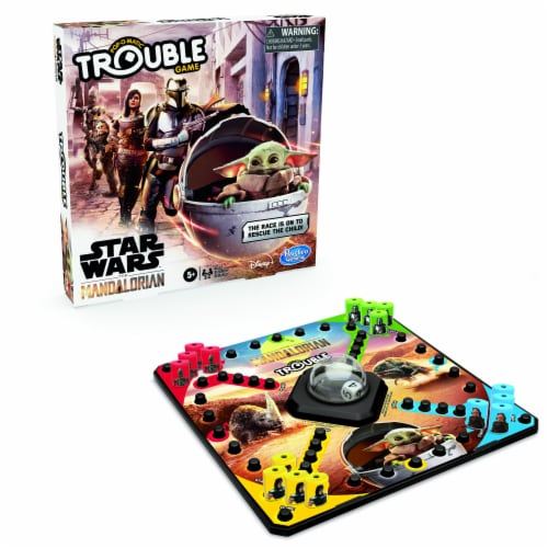 Hasbro Trouble: Star Wars The Mandalorian Edition Board Game Perspective: back
