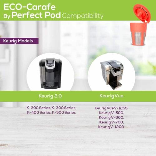 Perfect Pod Reusable K Carafe Pod | Compatible With Keurig 2.0 K-carafe K200 K300 K400 K500 S Perspective: back