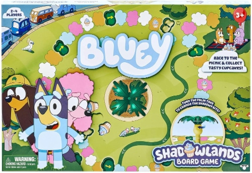 Moose Bluey Shadowlands Family Board Game | For 2-4 Players Perspective: back