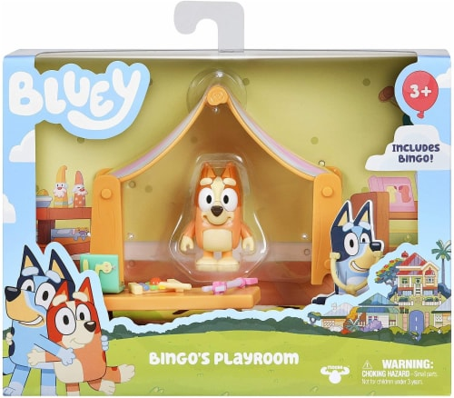 Bluey Playroom Action Figure Playset | Includes Bingo Perspective: back