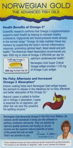 Norwegian Gold Super Critical Omega Fish Oils Perspective: back