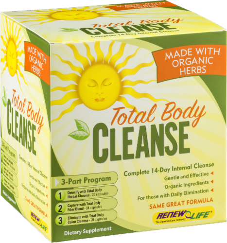 Renew Life Total Body Cleanse Kit Perspective: back