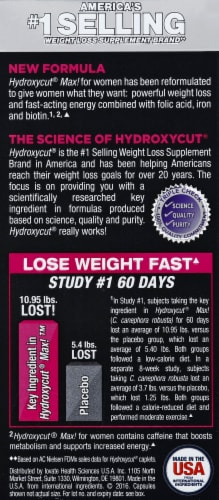 Hydroxycut Max for Women Capsules Perspective: back