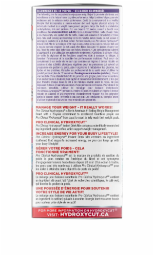 Hydroxycut Wildberry Instant Drink Mix Dietary Supplement Packets Perspective: back
