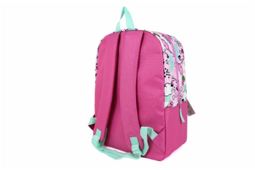 Cudlie Backpack & Pencil Case Set - Kitty Cat Dreams Perspective: back