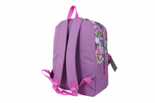 Cudlie Backpack & Pencil Case Set - Spaced Out Unicorn Perspective: back