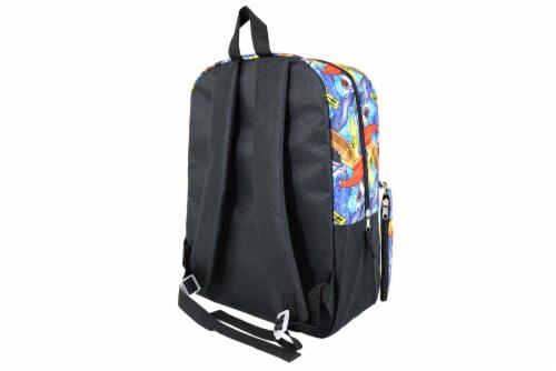 Cudlie Backpack & Pencil Case Set - Surf Sharks Perspective: back