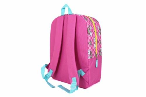 Cudlie Backpack Set - Gem/Rainbow/ Pink Checkered Perspective: back