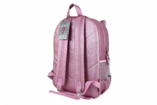 Cudlie Fashion Backpack - Pink Cat Perspective: back