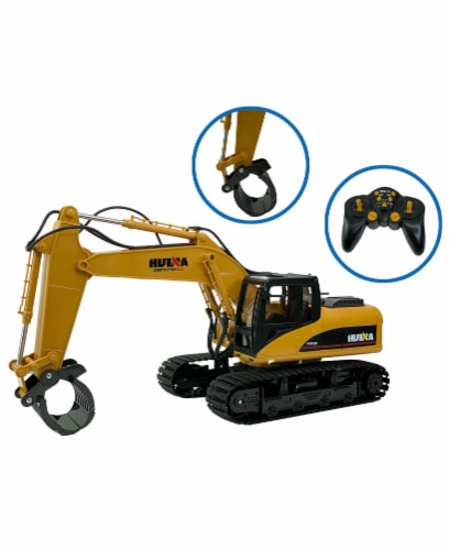 Big Daddy Die Cast 16 Log Grabbing Excavator with Remote Control Perspective: back
