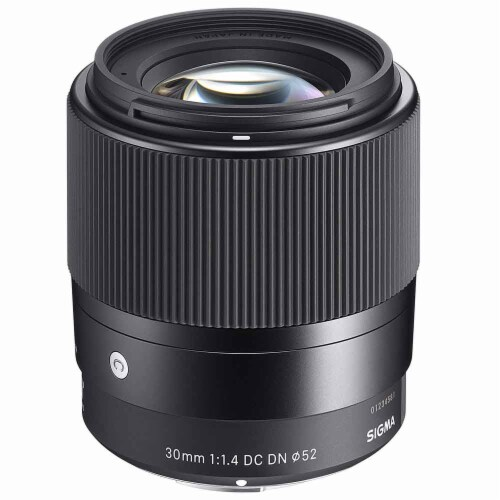Sigma 30mm F/1.4 Dc Dn Contemporary Lens For Sony E + Complete Accessory Bundle Perspective: back