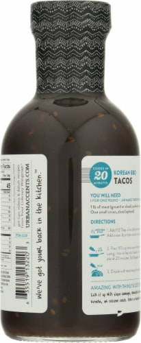 Urban Accents® Korean BBQ Taco Simmer Sauce Perspective: back