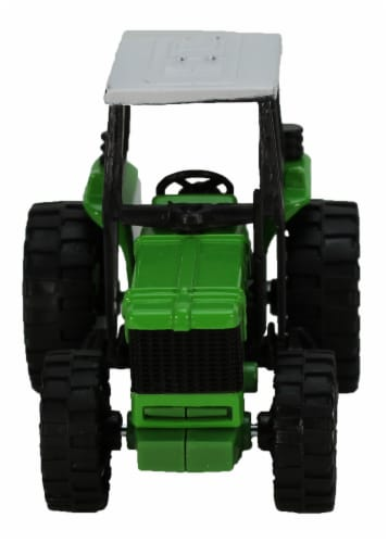 Green Die-Cast Farm Tractor, 1:32 Scale Perspective: back
