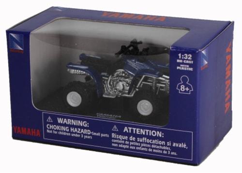 Die-Cast Blue Yamaha Warrior Four Wheeler, 1:32 Scale Perspective: back