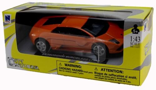 Die-Cast Orange Lamborghini Mucielago LP640 1:43 Scale Perspective: back