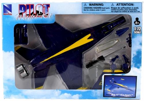 Snap Together Model F/A-18 Blue Angels Jet Fighter Perspective: back