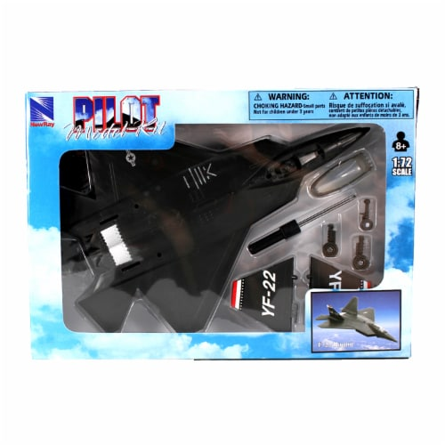 Snap Together Model F-22 Raptor Jet Fighter Perspective: back