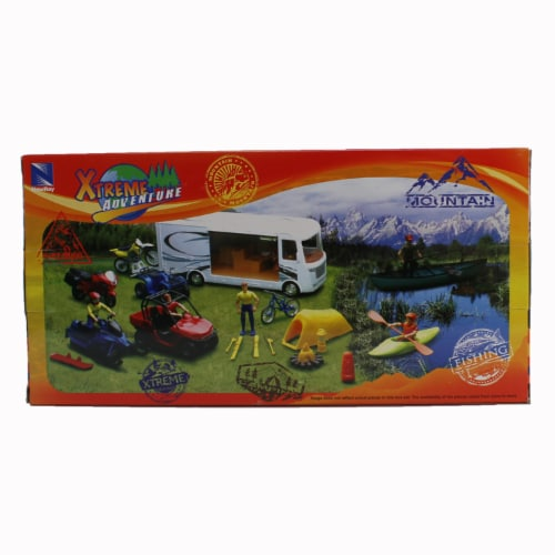 Xtreme Fishing, Biking, and Canoeing Adventure Playset Perspective: back