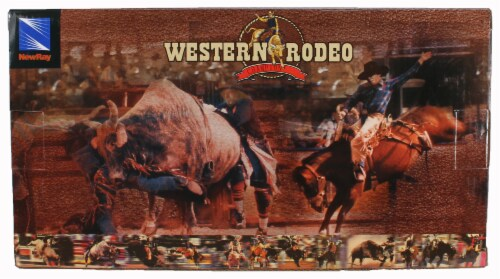 Western Rodeo Playset - Cowgirls Horses and Flag Perspective: back