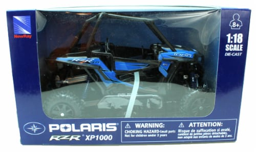 Polaris RZR XP 1000 Die Cast Vehicle, Blue (1:18 Scale) Perspective: back
