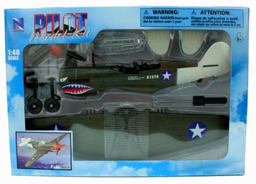 Sky Pilot Classic Plane Model Kit (1:48 Scale), P-40 Warhawk Perspective: back