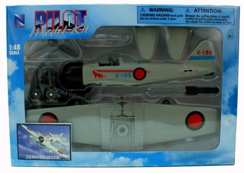 Sky Pilot Classic Plane Model Kit (1:48 Scale), Zero Fighter Perspective: back