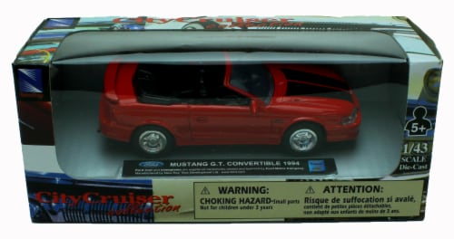 1:43 Scale Die-Cast Red 1994 Mustang G.T. Convertible Perspective: back