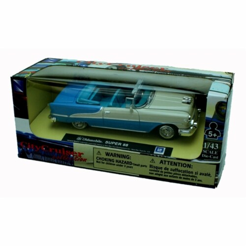 1:43 Scale Die-Cast Blue Oldsmobile SUPER 88 Convertible Perspective: back
