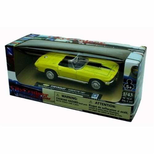 1:43 Scale Die-Cast Yellow 1967 Chevrolet Corvette Perspective: back