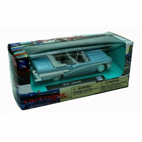 1:43 Scale Die-Cast Blue Buick Century Convertible Perspective: back