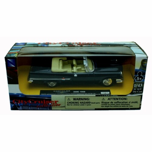 1:43 Scale Die-Cast Blue 1959 Chrysler 300E Convertible Perspective: back