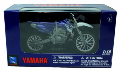 1:18 Scale Die-Cast Motorcycle - Blue Yamaha YZ 450F Perspective: back