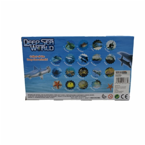 Deep Sea World 6 Pack, Hammerhead, Octopus, Coral, Starfish, Megachasma,Sphyrna Perspective: back