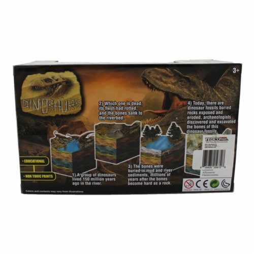 Extinct World Dinosaur Duo Boxed Playset, Style C Perspective: back
