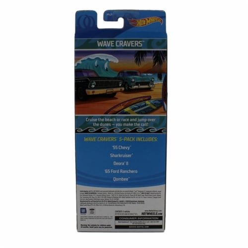 Hot Wheels 5 Pack, Wave Cravers Perspective: back