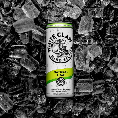White Claw Natural Lime Hard Seltzer Perspective: back