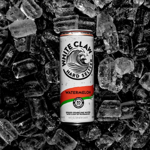 White Claw Watermelon Spiked Sparkling Water Perspective: back