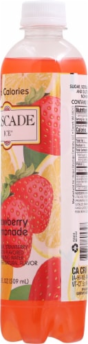 Cascade Ice® Sparkling Strawberry Lemonade Water Perspective: back