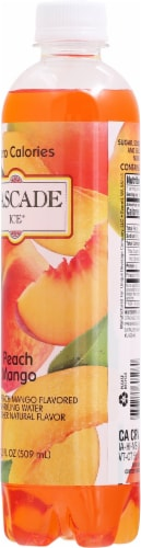 Cascade Ice® Peach Mango Zero Calories Sparkling Water Perspective: back