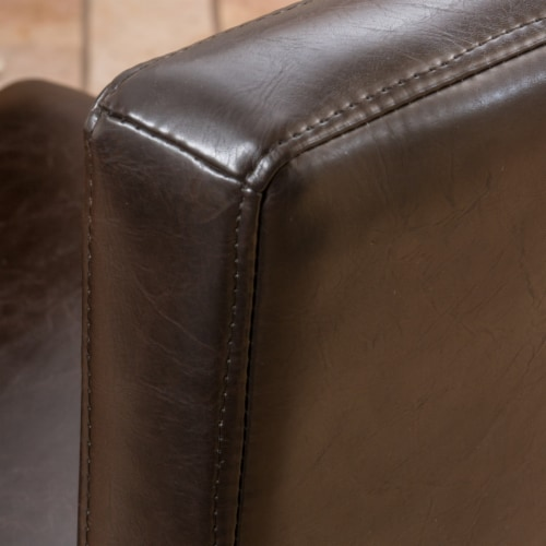 Seigel 19-Inch Brown Bonded Leather Counter Stool (Set of 2) Perspective: back