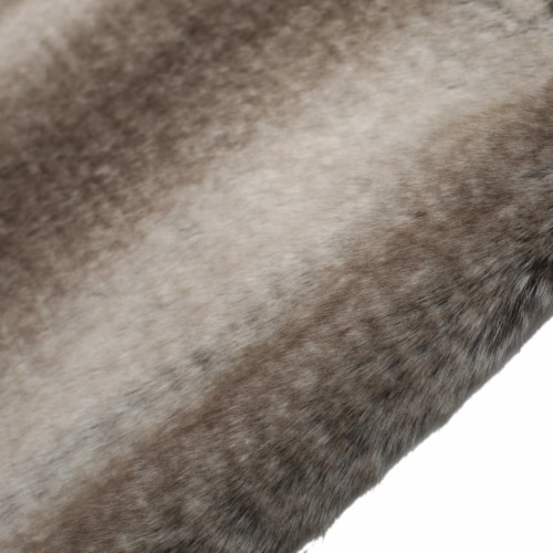 Tuscan Ash White Faux Fur  Throw Blanket Perspective: back