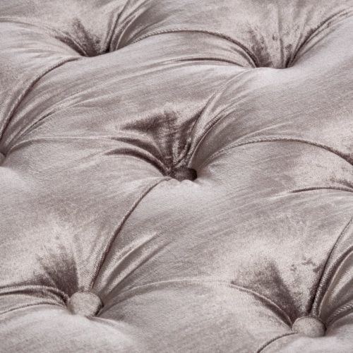 Euler Grey Tufted Velvet Ottoman Bench Perspective: back