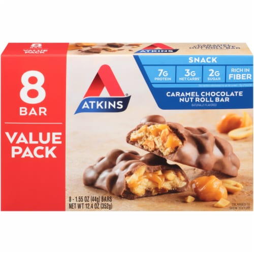 Atkins® Caramel Chocolate Nut Roll Value Pack Perspective: back