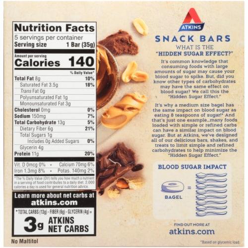 Atkins® Day Break Peanut Butter Fudge Crisp Bars Perspective: back